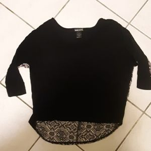 Black and tribal nude top